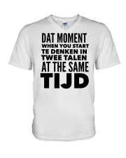 DUTCH DAT MOMENT  V-Neck T-Shirt thumbnail