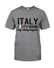ITALY STORY BEGINS Classic T-Shirt thumbnail