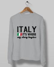 ITALY STORY BEGINS Crewneck Sweatshirt lifestyle-unisex-sweatshirt-front-10
