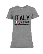 ITALY STORY BEGINS Premium Fit Ladies Tee thumbnail