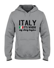 ITALY STORY BEGINS Hooded Sweatshirt thumbnail