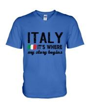ITALY STORY BEGINS V-Neck T-Shirt thumbnail