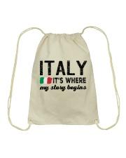 ITALY STORY BEGINS Drawstring Bag thumbnail