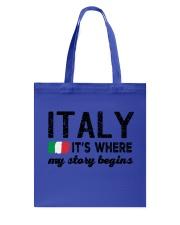 ITALY STORY BEGINS Tote Bag thumbnail