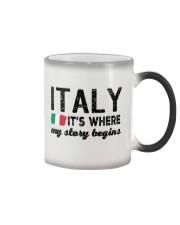 ITALY STORY BEGINS Color Changing Mug thumbnail