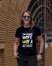 WIFE OF A BUS DRIVER Ladies T-Shirt lifestyle-women-crewneck-front-2