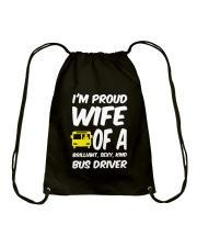 WIFE OF A BUS DRIVER Drawstring Bag thumbnail