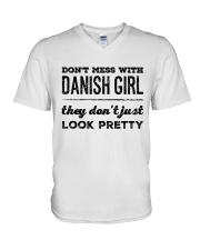 DANISH GIRIL V-Neck T-Shirt thumbnail