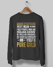 DOWN SYNDROME PURE GOLD Crewneck Sweatshirt lifestyle-unisex-sweatshirt-front-10