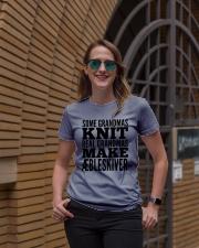 DANISH GRANDMA MAKE AEBLESKIVER Ladies T-Shirt lifestyle-women-crewneck-front-2