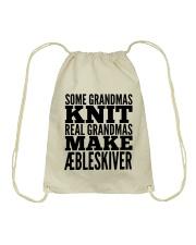 DANISH GRANDMA MAKE AEBLESKIVER Drawstring Bag thumbnail