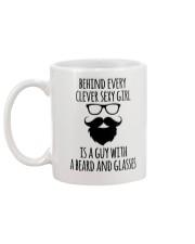 BEARD AND GLASSES Mug back