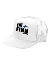 THE POWER OF A FINN IS THE SISU WITHIN Trucker Hat left-angle