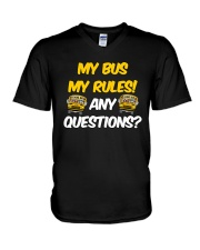 SCHOOL BUS DRIVER MY BUS MY RULES V-Neck T-Shirt thumbnail
