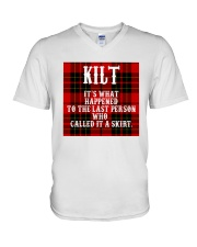 SCOTTISH KILT V-Neck T-Shirt thumbnail