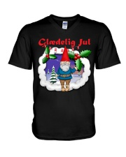 GLAEDELING JUL DANISH CHRISTMAS V-Neck T-Shirt thumbnail