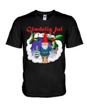 GLAEDELING JUL DANISH CHRISTMAS V-Neck T-Shirt thumbnail