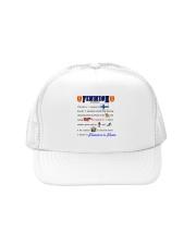 FINNISH KALSARIKANNIT WORD Trucker Hat front
