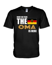 HAVE NO FEAR THE OMA IS HERE V-Neck T-Shirt thumbnail