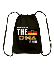 HAVE NO FEAR THE OMA IS HERE Drawstring Bag thumbnail