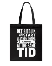 DANISH TWO LANGUAGE Tote Bag thumbnail