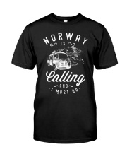 NORWAY IS CALLING Classic T-Shirt front