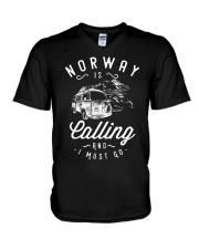 NORWAY IS CALLING V-Neck T-Shirt thumbnail