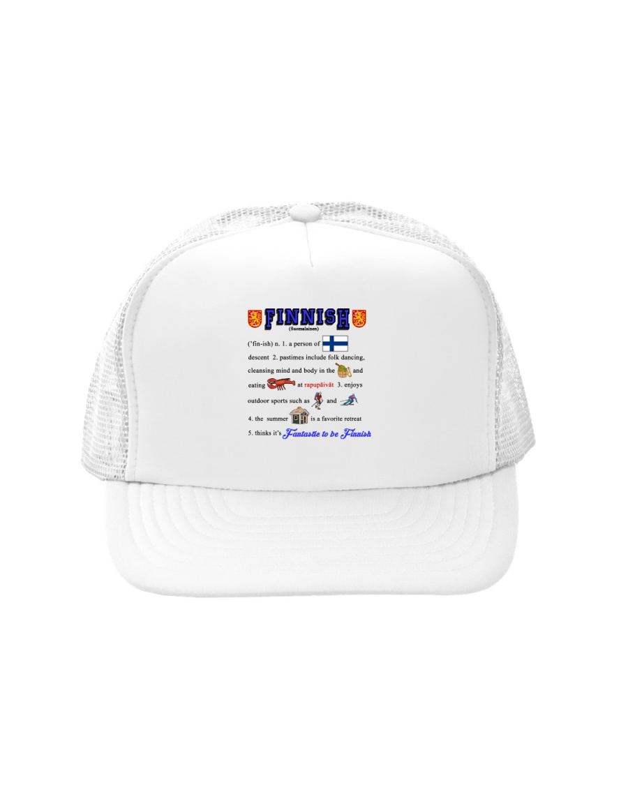 FINNISH AMERICAN AWESOME Trucker Hat