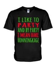 DENMARK - CHRISTMAS HONNINGKAKE PARTY V-Neck T-Shirt thumbnail