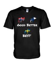 SWEDEN MOOSE V-Neck T-Shirt thumbnail