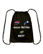 SWEDEN MOOSE Drawstring Bag thumbnail