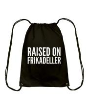 DENMARK RAISED ON FRIKADELLER  Drawstring Bag thumbnail