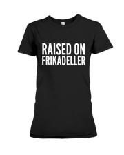 DENMARK RAISED ON FRIKADELLER  Premium Fit Ladies Tee thumbnail