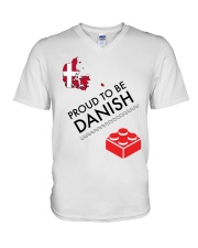 PROUD TO BE DANISH V-Neck T-Shirt tile
