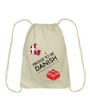 PROUD TO BE DANISH Drawstring Bag thumbnail