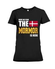 DENMARK MORMOR IS HERE Premium Fit Ladies Tee thumbnail