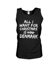 ALL I WANT FOR CHRISTMAS IS DENMARK Unisex Tank thumbnail