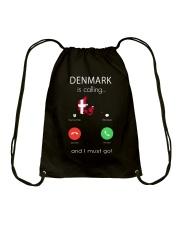 DENMARK IS CALLING Drawstring Bag thumbnail