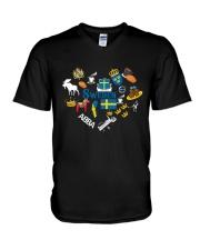 LOVE SWEDEN  NEW V-Neck T-Shirt thumbnail