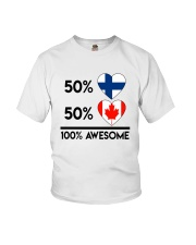 FINNISH CANADIAN AWESOME Youth T-Shirt thumbnail