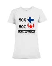 FINNISH CANADIAN AWESOME Premium Fit Ladies Tee thumbnail