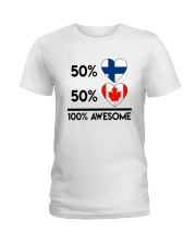 FINNISH CANADIAN AWESOME Ladies T-Shirt thumbnail