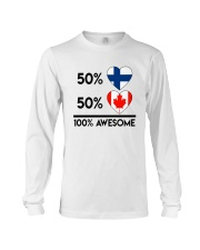 FINNISH CANADIAN AWESOME Long Sleeve Tee thumbnail