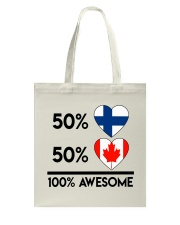FINNISH CANADIAN AWESOME Tote Bag thumbnail