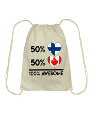 FINNISH CANADIAN AWESOME Drawstring Bag thumbnail