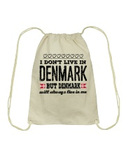 DENMARK WILL ALWASY LIVE IN ME Drawstring Bag thumbnail