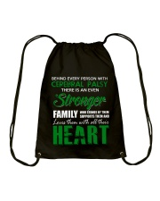CEREBRAL PALSY  STRONGER FAMILY Drawstring Bag thumbnail