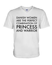 DANISH WOMEN PRINCESS WARRIOR V-Neck T-Shirt thumbnail