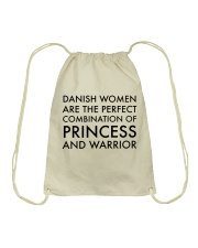 DANISH WOMEN PRINCESS WARRIOR Drawstring Bag thumbnail