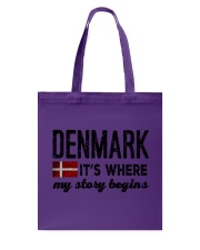 DENMARK STORY BEGINS Tote Bag tile